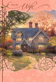 kinkade cottage for s day card greeting cards