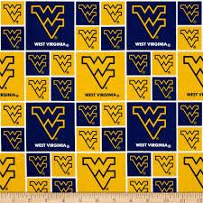 Wvu Home Decor Collegiate Cotton Broadcloth West Virginia University Yellow