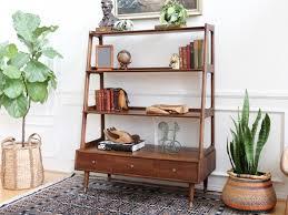 Walnut Bookshelves Mid Century Modern Walnut U0026 Ash Bookshelf Wall Unit Bookcase