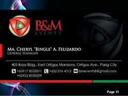 b u0026m events company profile