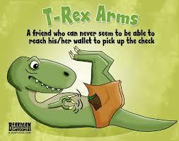 T Rex Arms Meme - t rex arms cartoon bearman cartoons