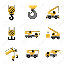 mobile crane isolated on white background royalty free cliparts