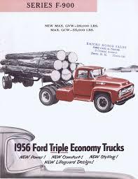 Vintage Ford Truck Brochures - 1956 ford f 900 brochure