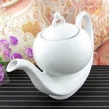 Teh Murah murah keramik teko kopi besar putih kreatif teko kopi teh ketel