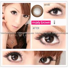 maxiy brown contact lens pair wx chono 24 99 halloween
