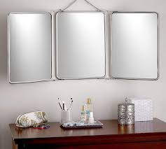 tri fold bathroom mirror fold silver mirror