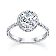 bezel set engagement rings best 25 bezel engagement rings ideas on design of