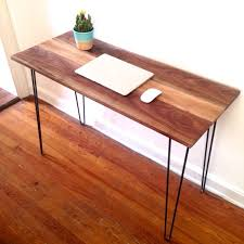 Small Walnut Desk Abstrakt Black Walnut Desk Reclaimed Wood Hairpin Leg Desk By