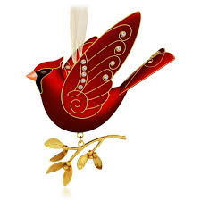 2015 ruby cardinal hallmark keepsake ornament hooked on