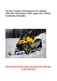 ski doo complete workshop service manual 1996 1997 all models