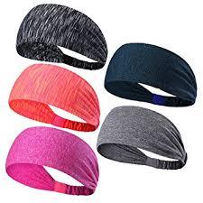 sports headbands 5pcs sweatbands sports headbands wicking stretchy wrap ideal