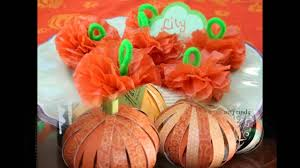 easy paper pumpkin crafts ideas youtube