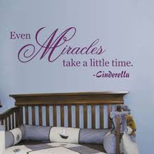 compare prices on miracle quotes online shopping buy low price fairy tales cinderella quote even miracles take a little time kids vinyl sticker inspirational