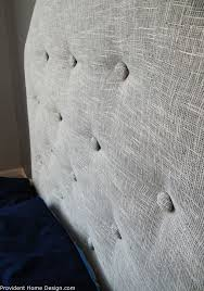 diy faux tufted upholstered headboard