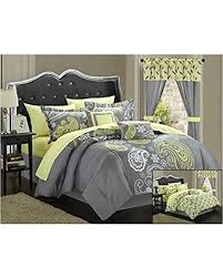 Grey And Yellow Comforters Hello Cyber Monday 56 Off Chic Home Olivia 20 Piece Comforter