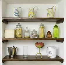 kitchenshelves com vintage kitchen shelves with jars jugs and pots stock photo