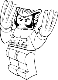 lego wolverine coloring free printable coloring pages