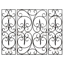 Candle Wall Sconces Wrought Iron Square Wrought Iron Scroll Candle Wall Sconce 28 3h In Hayneedle