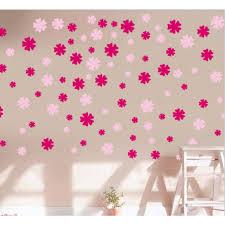 pink flower shower wall decal sticker wackydot pink flower shower wall decal sticker