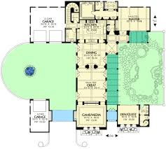 Hacienda Homes Floor Plans Plan 16380md Elegant Mediterranean Home With Guest House Guest