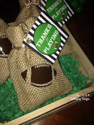 football party favors football set hut sports theme birthday party favor tag by