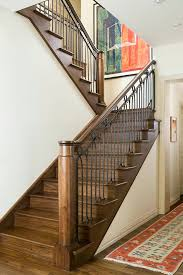 art metal design staircase eclectic with open tread stair landing