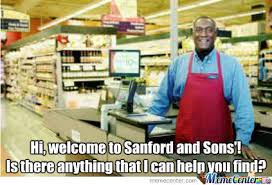 Aunt Esther Meme - sanford and sons grocery by recyclebin meme center