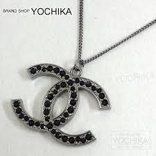 black stone pendant necklace images Brandshop yochika rakuten global market chanel chanel big cc jpg