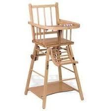 chaise haute en bois ancienne pour bébé ou poupon pas cher