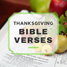 thanksgiving bible verses to