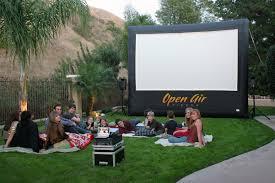 diy backyard theater screen outdoor furniture design and ideas
