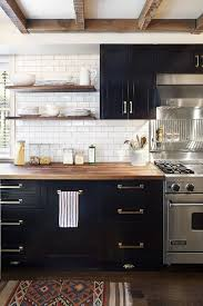 black kitchens designs kitchen design non white kitchens subway tile butcher block