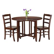 3 Pc Kitchen Table Sets by Amazon Com Winsome 5 Piece Alamo Round Drop Leaf Table With 4