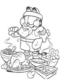 garfield eating junk food coloring pages food coloring pages
