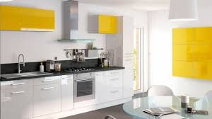 cuisine noir et jaune exemple cuisine noir blanc jaune