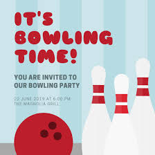 bowling birthday party invitationsbowling invitation template
