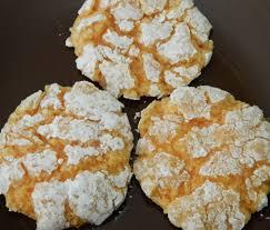 sugar spice and spilled milk orange cookies
