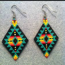 Native American Beaded Earrings Huichol Best 25 Beaded Earrings Native Ideas On Pinterest Beaded