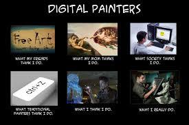 Painter Meme - digital painters meme by zhourules on deviantart