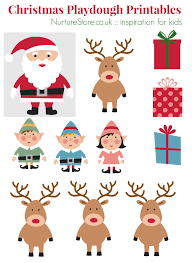 Free Christmas Crafts Ideas Father Christmas Printables For Playdough Father Christmas Puppet