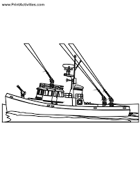 Boat Coloring Fireboat