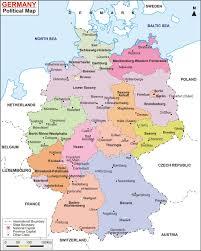 map of germany map of germany german states bundesländer maproom best germa