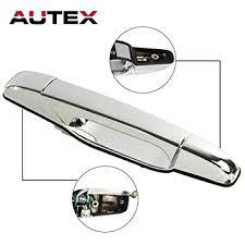 2007 cadillac escalade door handle amazon com autex chrome exterior outer rear right passenger side
