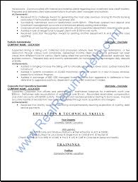 Resume Samples Banking by Free Resume Templates Examples Profile Sample Banking