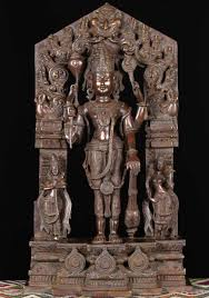 God Statue by Brass Vishnu Statue With Consorts 29