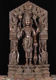 God Statue Brass Vishnu Statue With Consorts 29