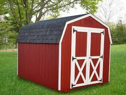 8 u0027x10 u0027 mini barn with red duratemp siding white trim black