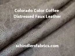Upholstery Fabric Faux Leather Colorado Color Coffee Distressed Faux Leather Upholstery Fabric