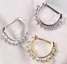 aliexpress nose rings images Buy hot unique zircon aztec septum clicker nose jpg