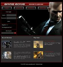 free website templates with games theme 1